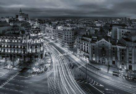 Photo wallpaper Madrid streets